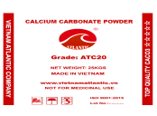 Coated Calcium Carbonate Powder ATC20