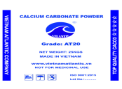 Uncoated Calcium Carbonate Powder AT20